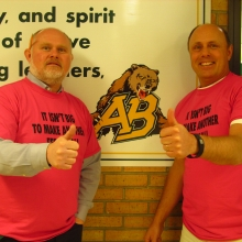 The Diversity Group on Day of Pink at Aden Bowman Collegiate in Saskatoon!