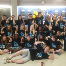 Students at St. Gregory school in Regina proudly showing off their I Am Stronger shirts!